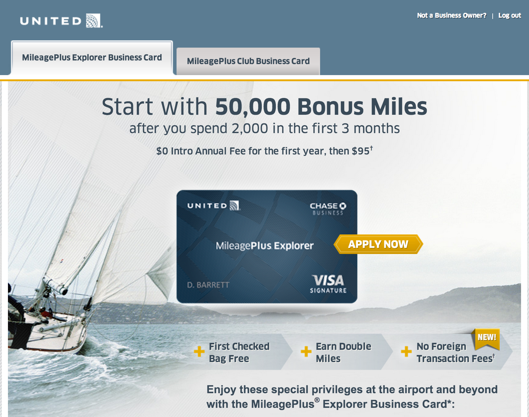 Credit Cards to Consider: United MileagePlus Business Card ...