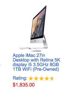 This iMac was available for $1,470 with the coupon!