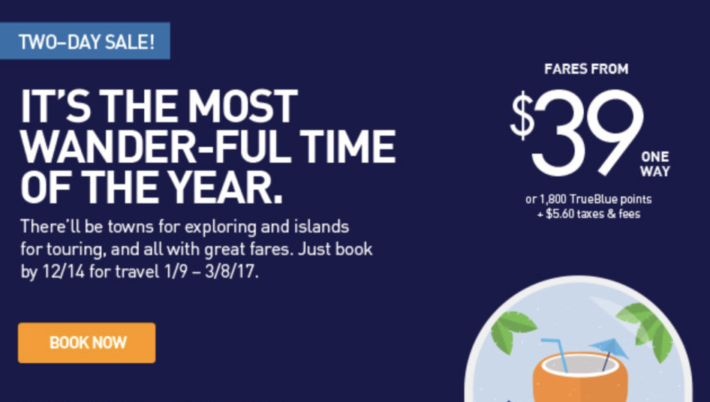 JetBlue Sale from $34