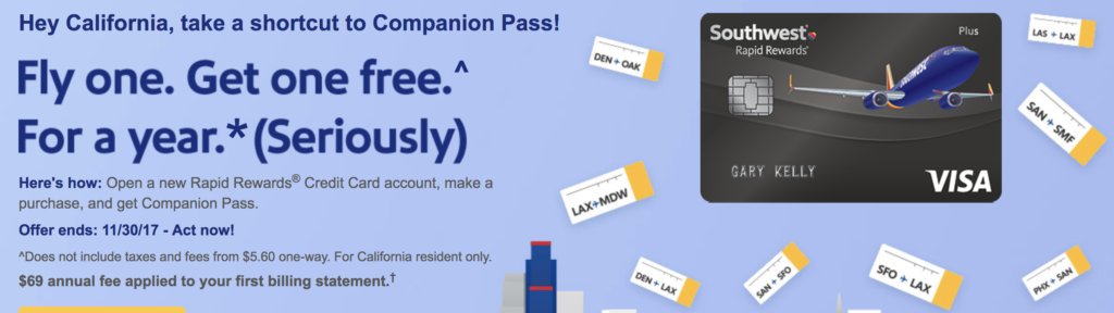 free southwest companion pass