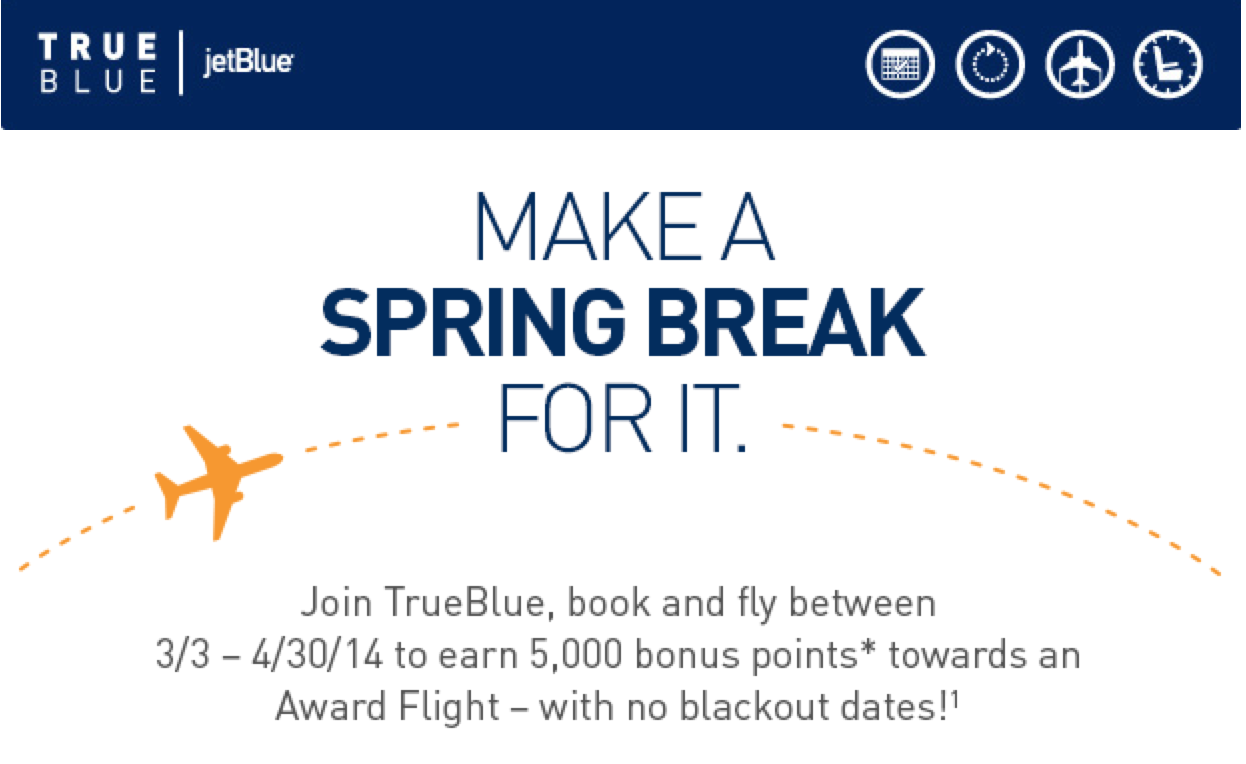 JetBlue 5,000 points