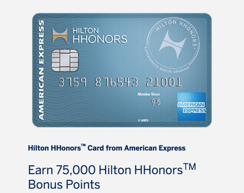 Best Offer! Earn 75,000 Hilton Points with No-Fee Hilton Amex Card ...