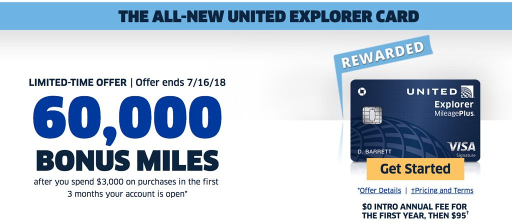 new United explorer card