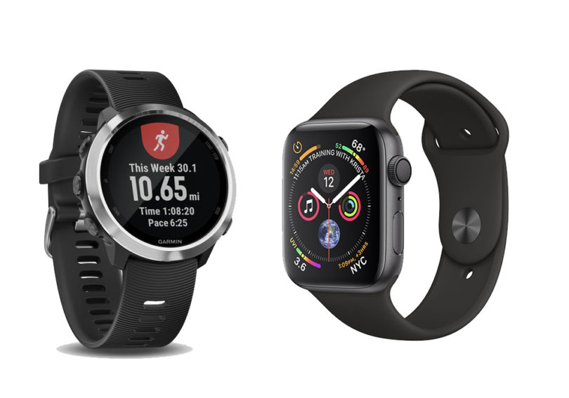 reputable site b0ad6 7955c Face-Off: Apple Watch Series 4 vs Garmin Forerunner 645 - Running ...