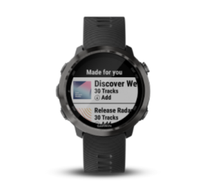 garmin gps watches spotify