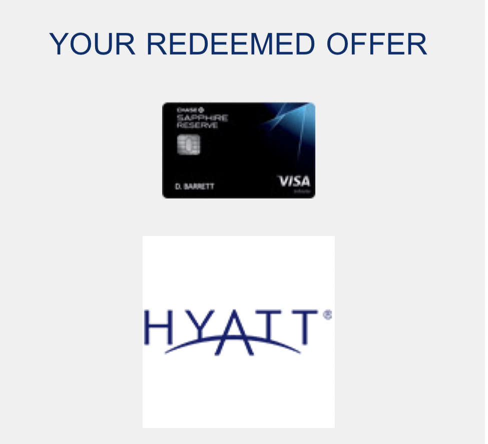 chase offer hyatt